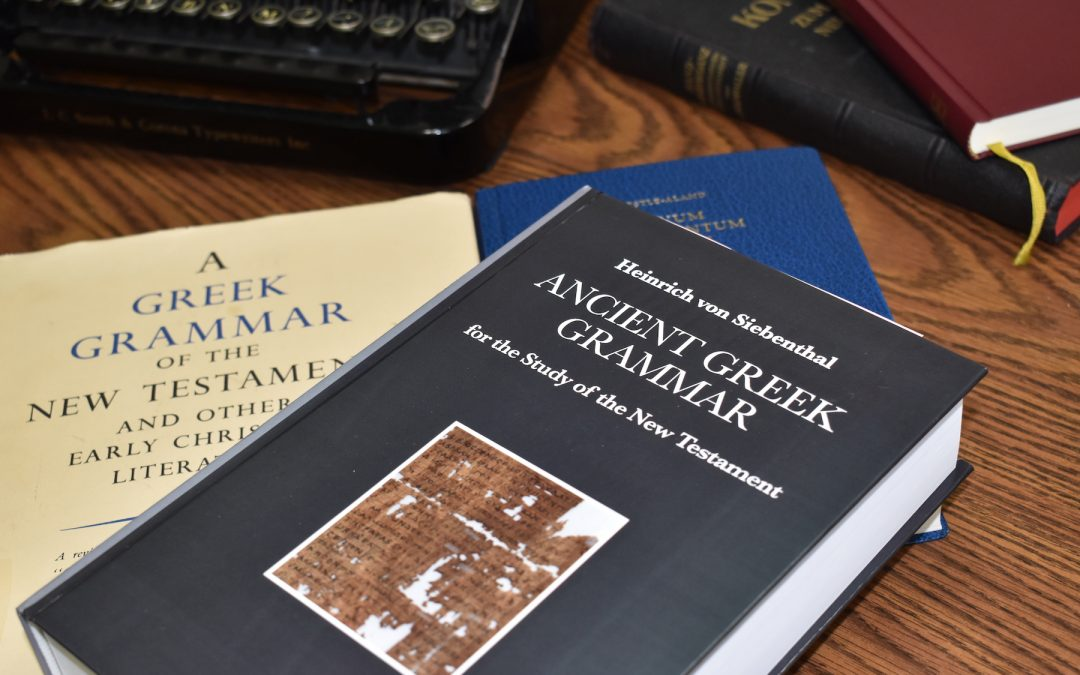Book Review: von Siebenthal's Ancient Greek Grammar for the Study of the New Testament